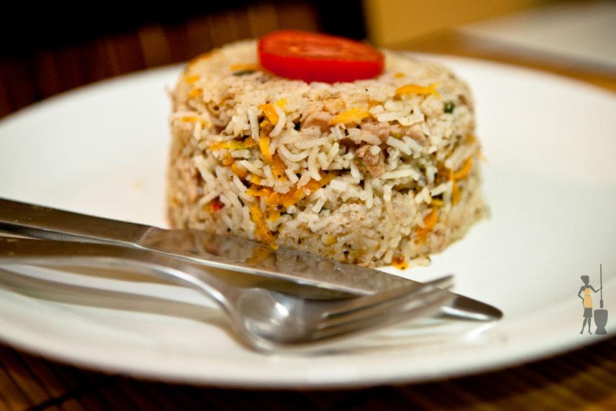 Basmati coconut rice (the Calabar variety)