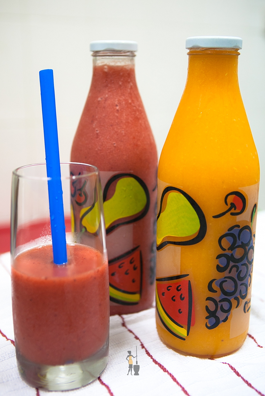 Watermelon and papaya juice