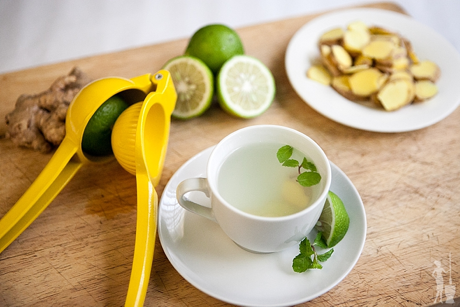 How do you start your day? Ginger and lemon tea